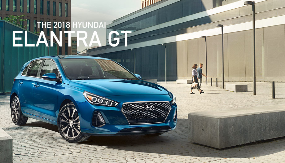 The 2018 Hyundai Elantra GT In Electric Blue Metallic