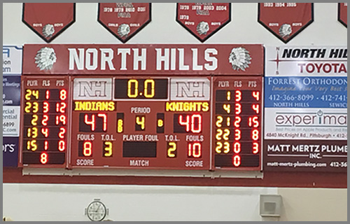 North Hills HS Scoreboard