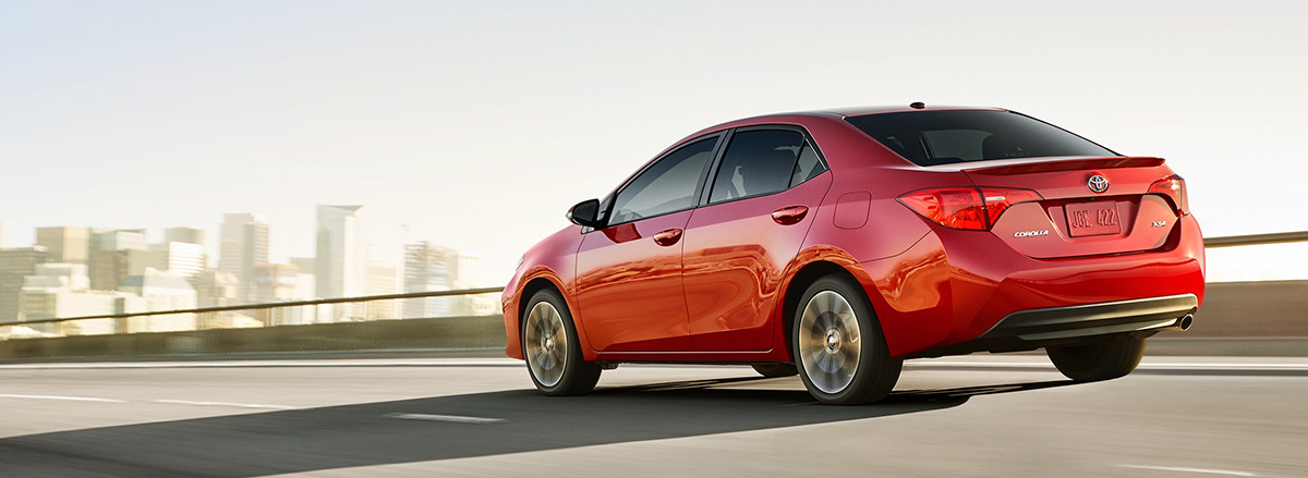 2019 Toyota Corolla on highway