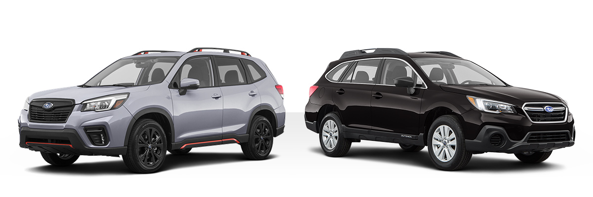 2019 Subaru Crosstrek and 2019 Subaru Forester cuts