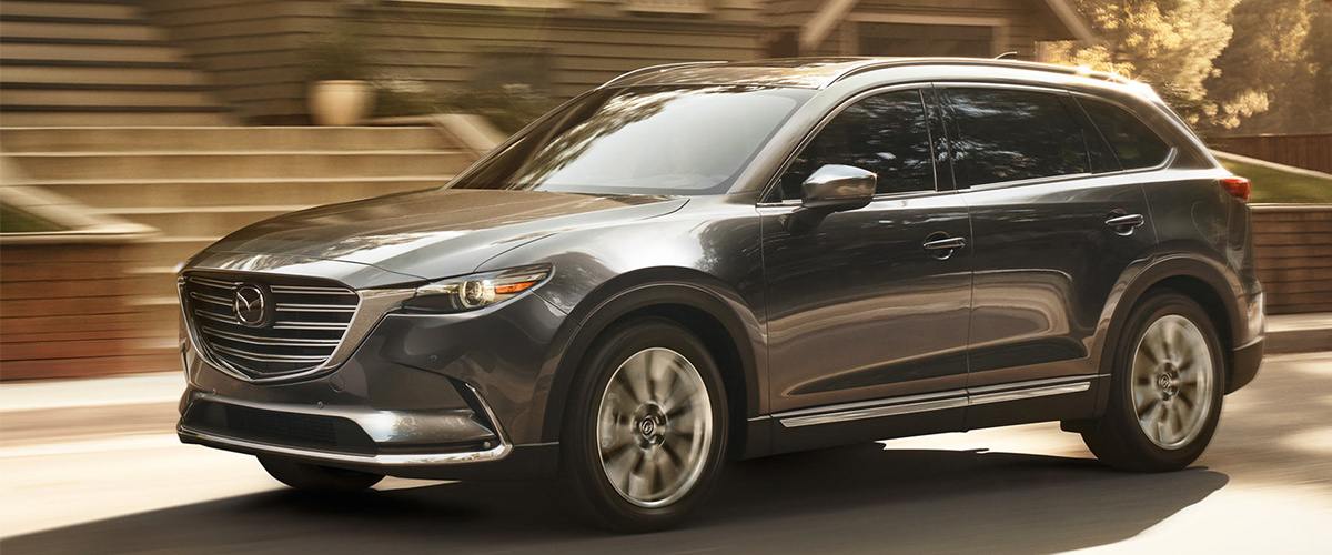 2018 Mazda CX-9 driving down road