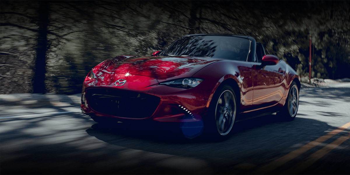 The 2019 Mazda MX-5 Miata on road
