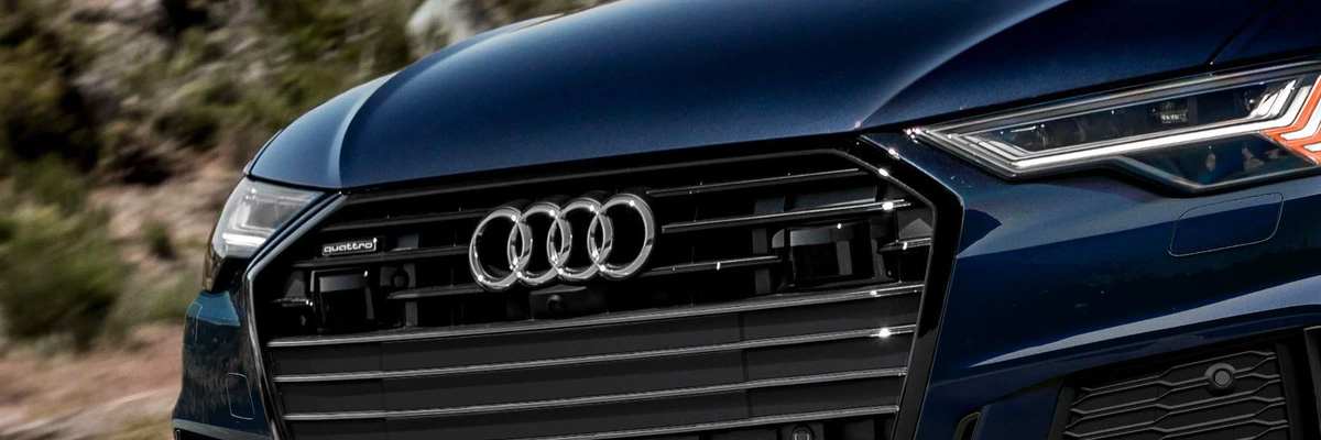 Close up of an Audi grill