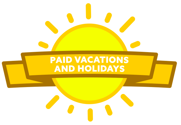 Paid Vacation and Holidays icon