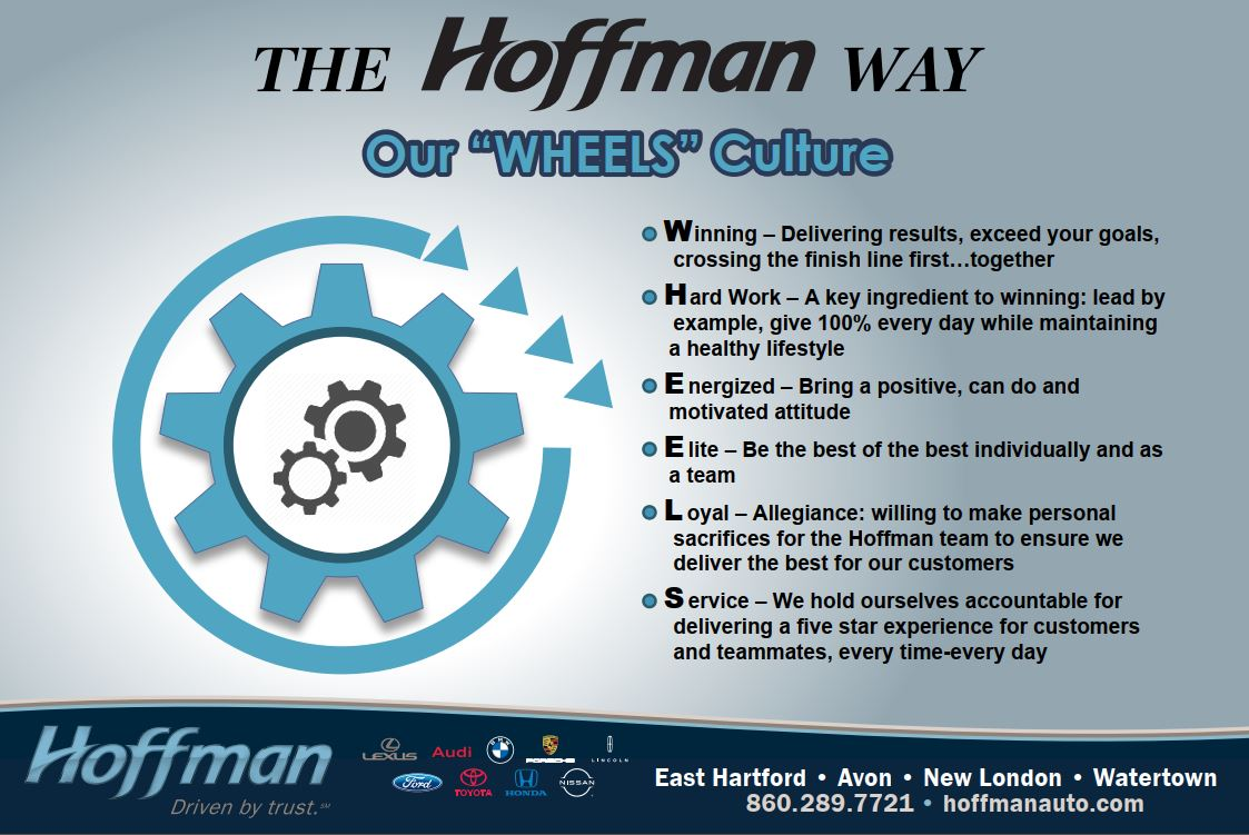 The Hoffman Way - Our Wheels Culture infographic