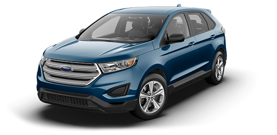 blue 2018 Ford Edge SE