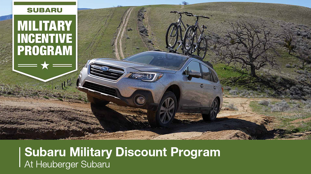 Subaru Military Discount Program At Heuberger Subaru