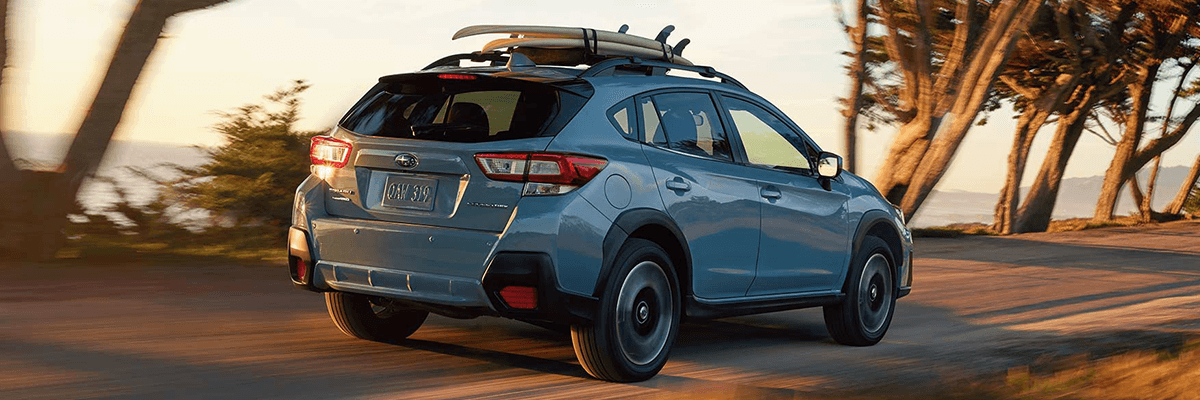 2018 Subaru Crosstrek blue rear view