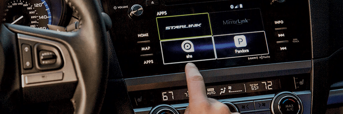 Subaru Starlink touchscreen