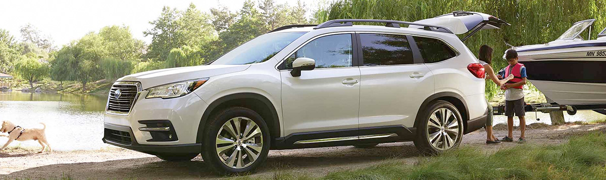 The 2019 Subaru Ascent towing a boat