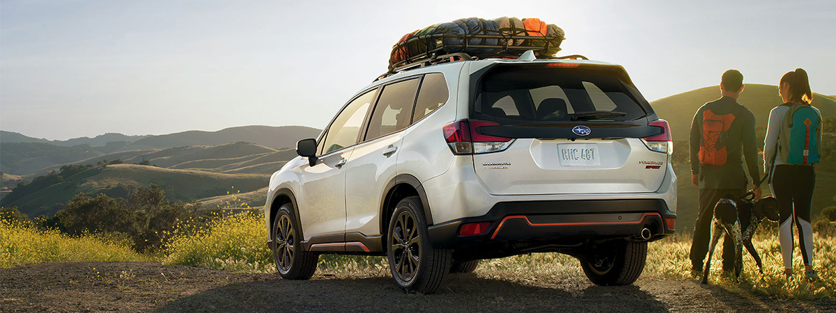 The 2019 Subaru Forester on mountaintop
