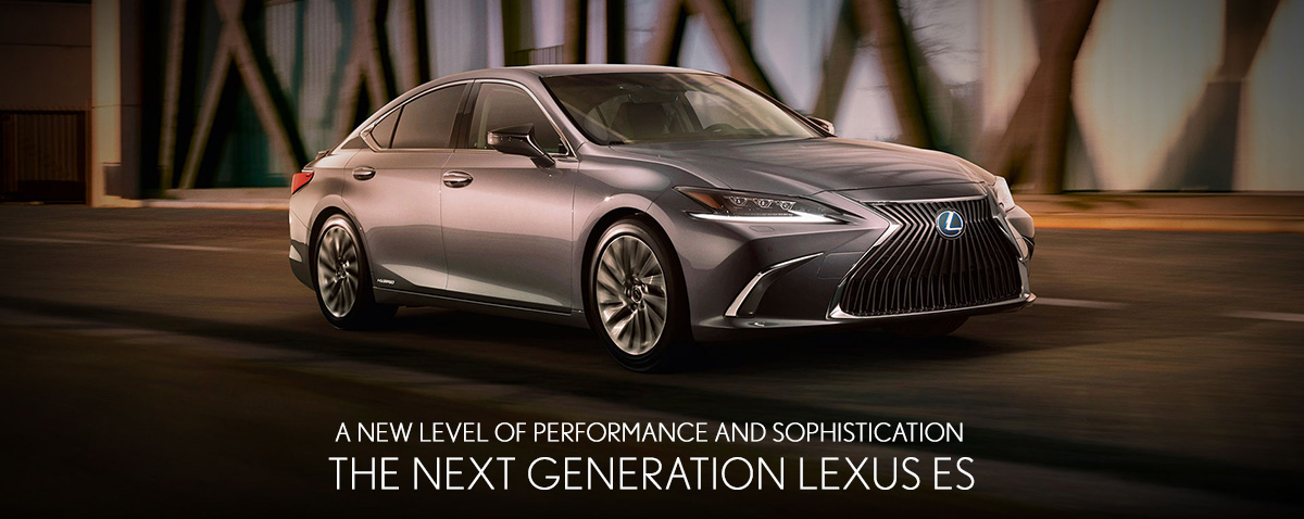 2019 Lexus ES on road