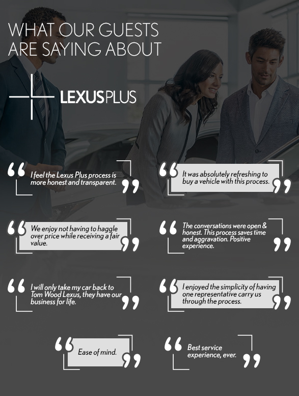 WHY BUY LEXUS PLUS testimonials
