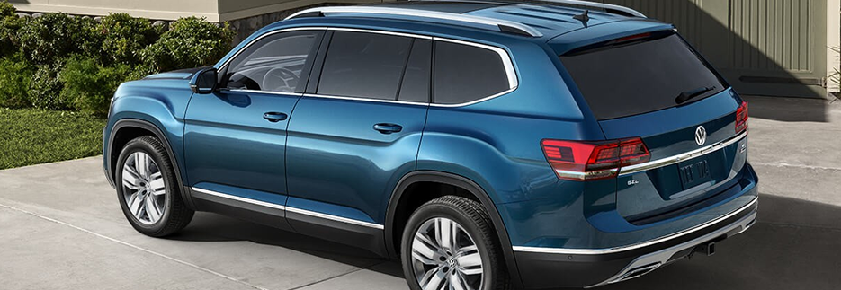 2018 volkswagen atlas exterior rear blue