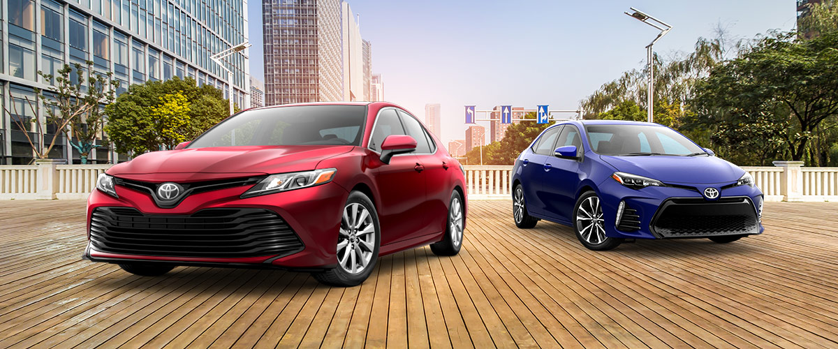 Camry Vs Corolla >> Compare The 2018 Toyota Camry And 2018 Corolla New Toyota