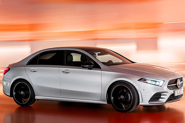 2019 Mercedes A-Class side view