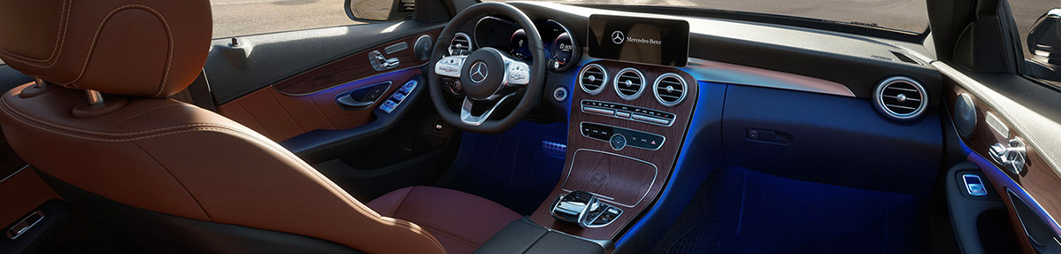 Interior of a 2021 Mercedes-Benz C-Class