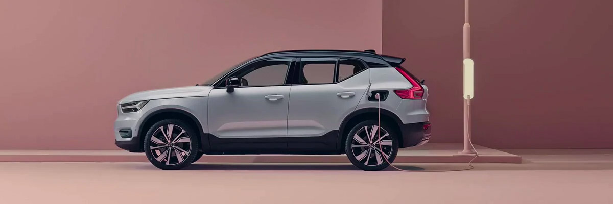 2021 Volvo XC40 Recharge at a charging station