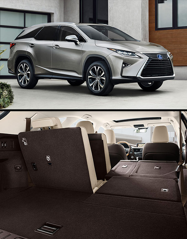 2018 Lexus RXL Standard & Available Features