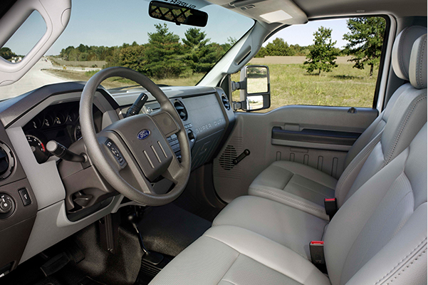 Interior Shot of a Ford F-350