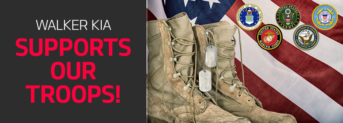 Walker Kia Supports our Troops!