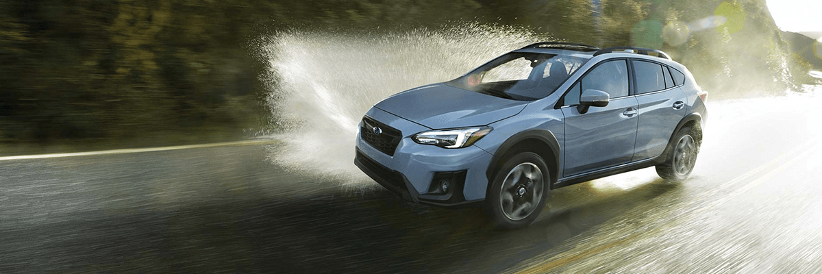 2019 Subaru Crosstrek driving through rain