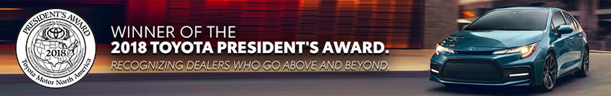 Peoria Toyota - 2018 Toyota President's Award Winner