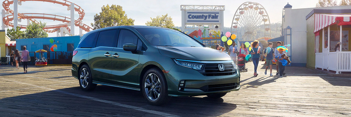 2021 Honda Odyssey parked at carnival