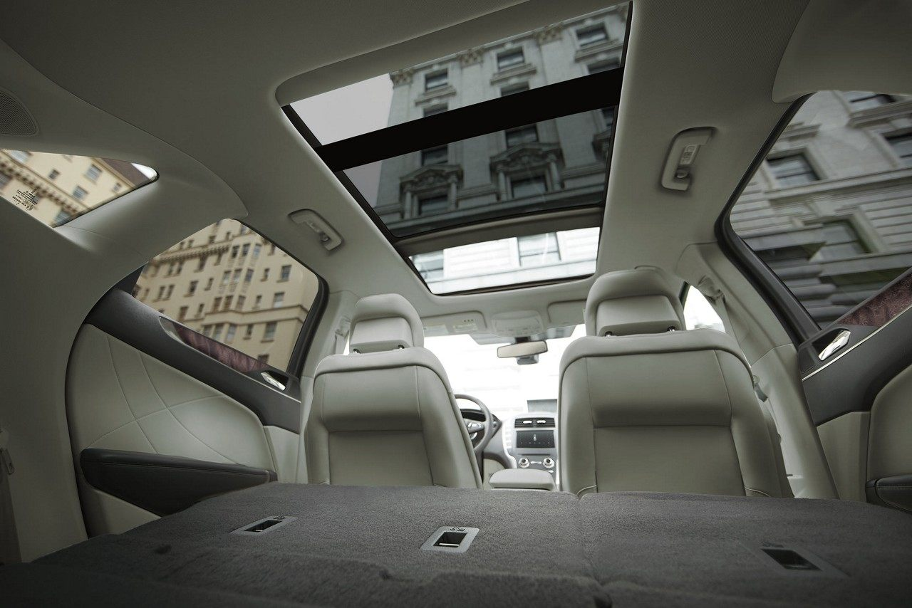 The available Panoramic Vista Roof® as seen from the inside of the MKC.