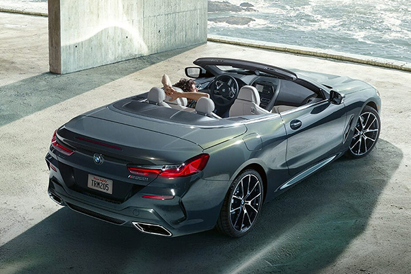 2019 BMW 8 Series Convertible rear 3/4