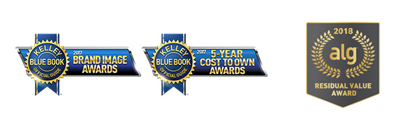 Kelley Blue Book and 2018 ALG award logos