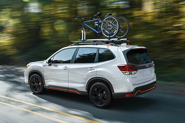 2019 Subaru Forester on road