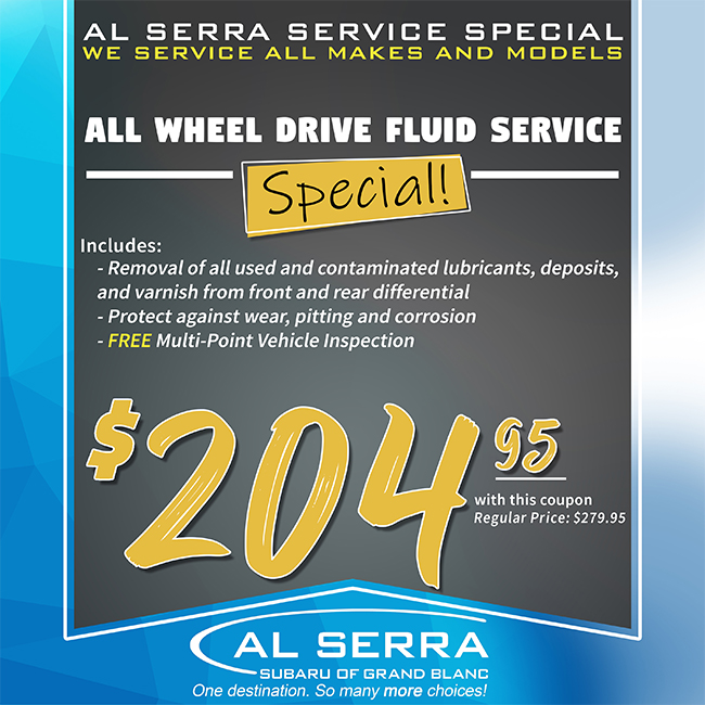 All Wheel Drive Fluid Service