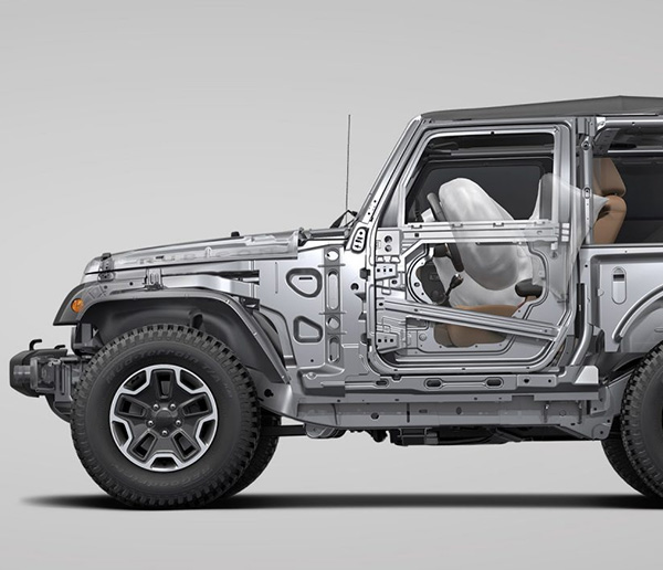 2018 Jeep Wrangler safety frame