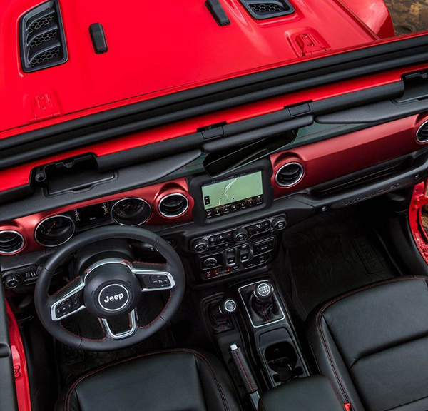 2018 Jeep Wrangler JL interior