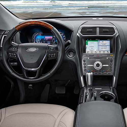 2018 Ford Explorer dashboard interior view