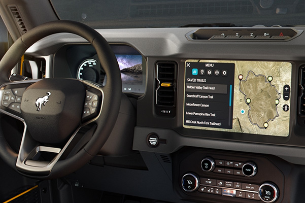 2021 Ford Bronco interior touchscreen