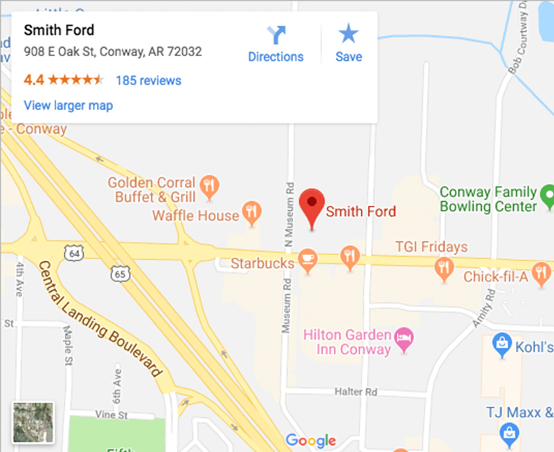 Directions to Smith Ford in Conway, AR