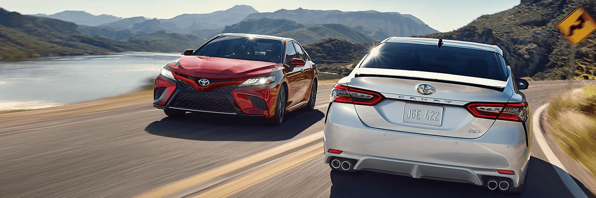 New 2018 Toyota Camry on highway