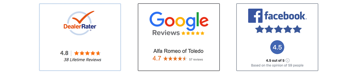 See Why Customers Choose Alfa Romeo of Toledo Reviews