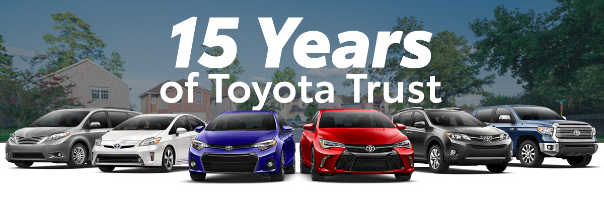 15 Years Of Toyota Trust Header