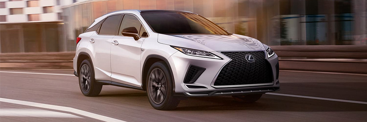 2021 Lexus RX on road