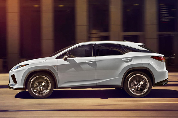 2021 Lexus RX side on highway