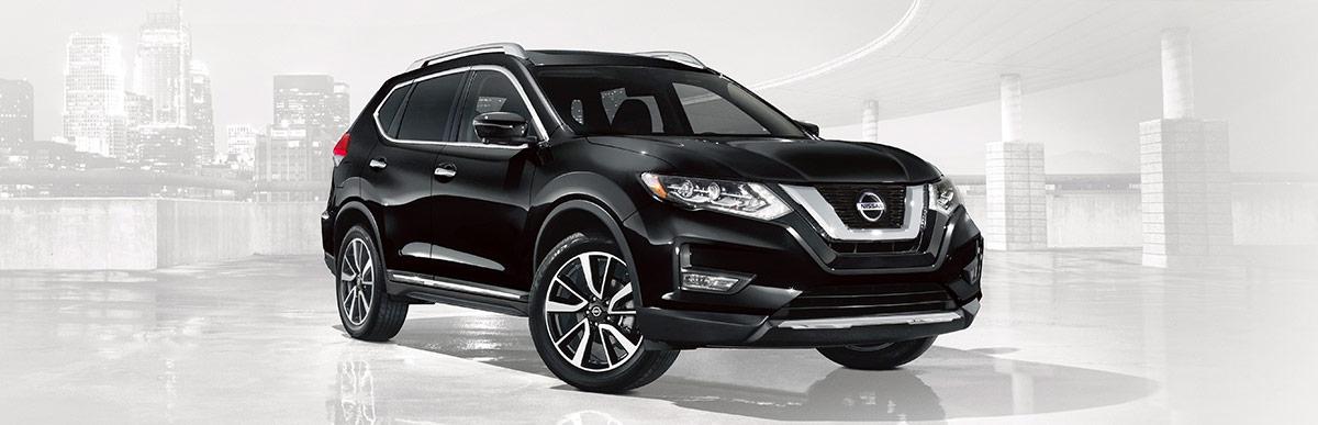 2018 Nissan Rogue SL shown in Magnetic Black
