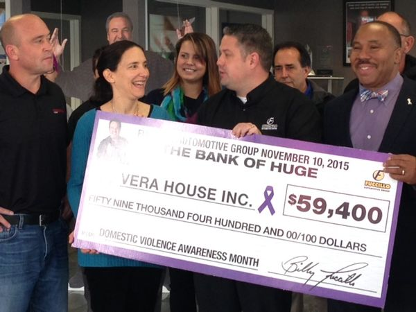 Fuccillo Automotive Group increase their donation to Vera House by 25%