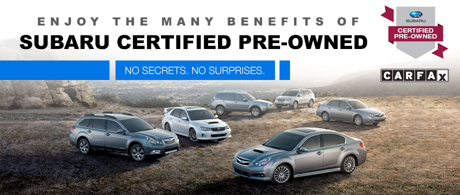 Subaru Certified Pre Owned >> Certified Pre Owned Subaru Used Subaru Near Castle Rock Co