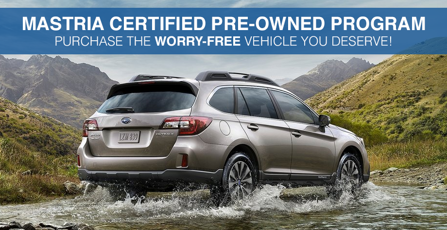 Subaru Dealers Ma >> Mastria Certified Pre Owned Subaru Dealer Near Plymouth Ma