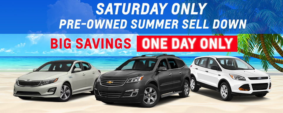 Saturday Only | Pre-Owned Summer Sell Down