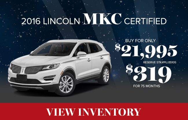 2016 LINCOLN MKC CERTIFIED BUY FOR ONLY $21,995