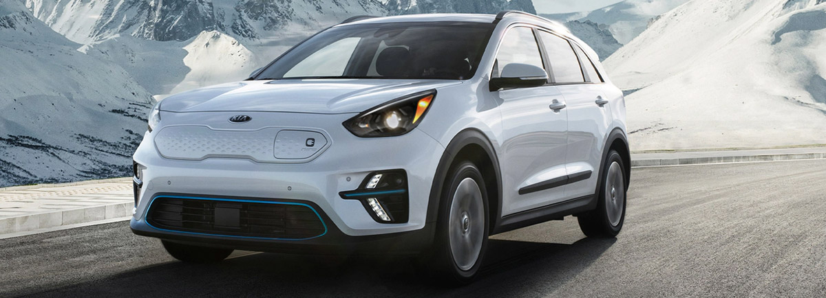 2020 Niro EV on winter road